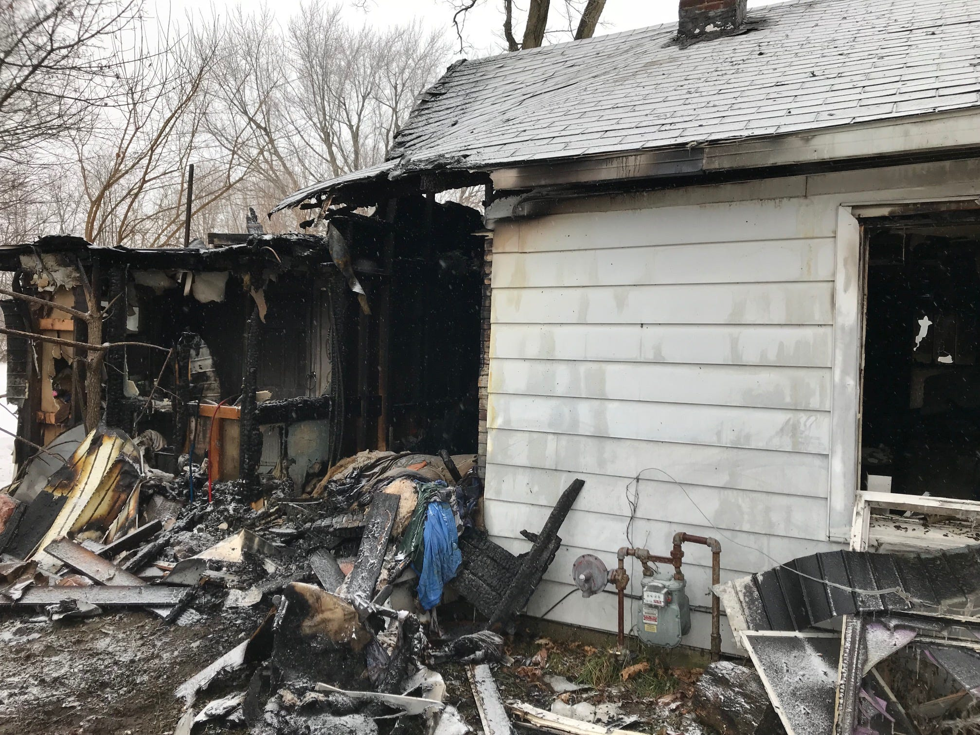 A Muncie man was killed early Tuesday when a fire broke out in his home in the 1700 block of South Burlington Drive.
