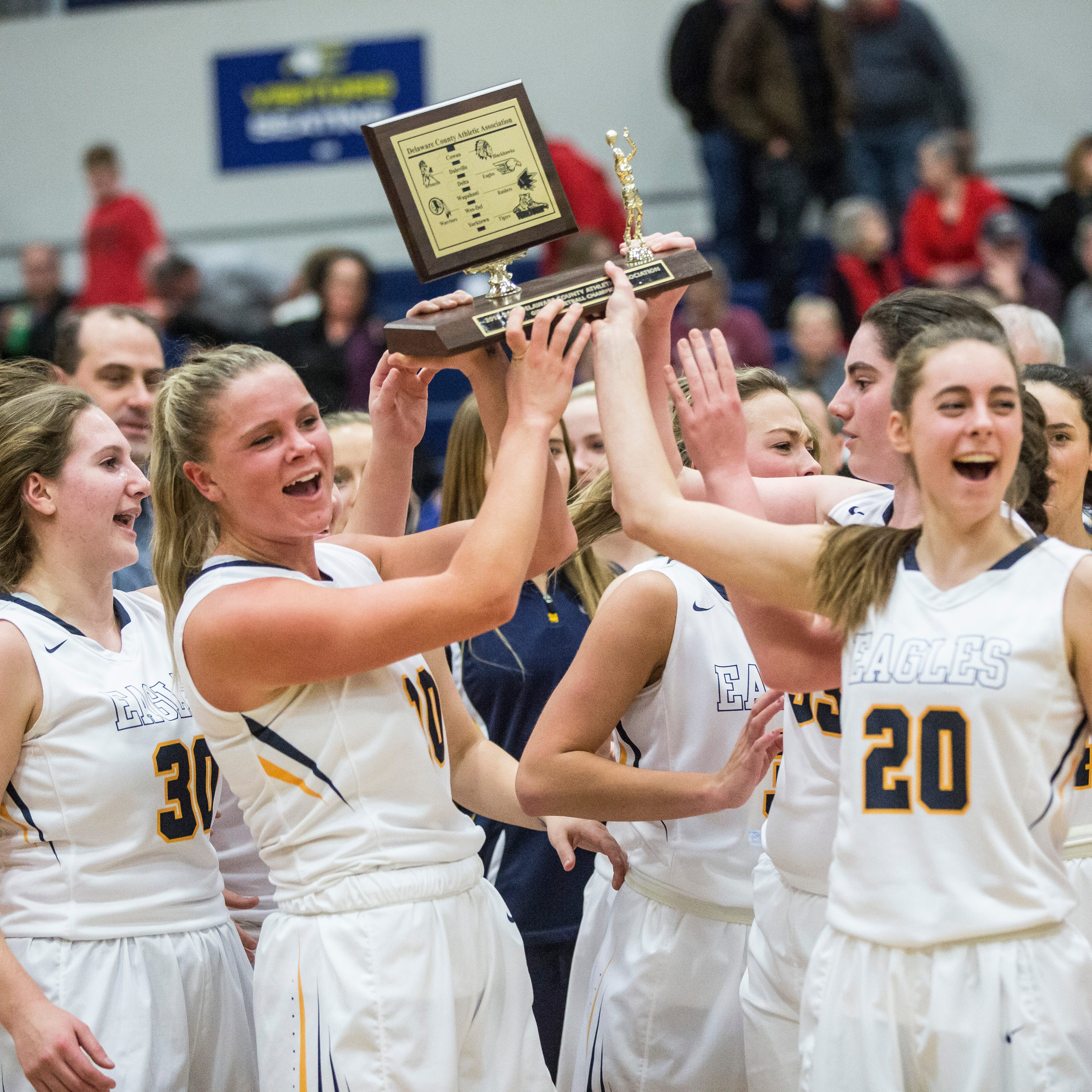 Delta girls win first Delaware County basketball title since 2012