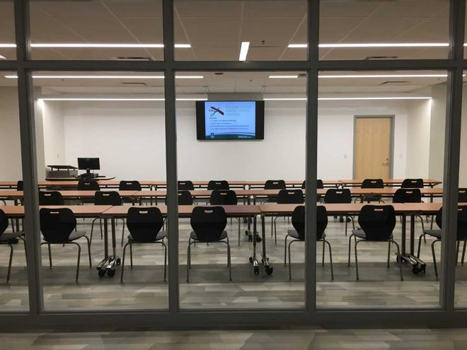 A classroom at the Ivy Tech School of Health.