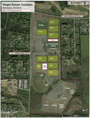 This rendering shows Murfreesboro's proposed soccer park project for the Tennessee State Soccer Association.