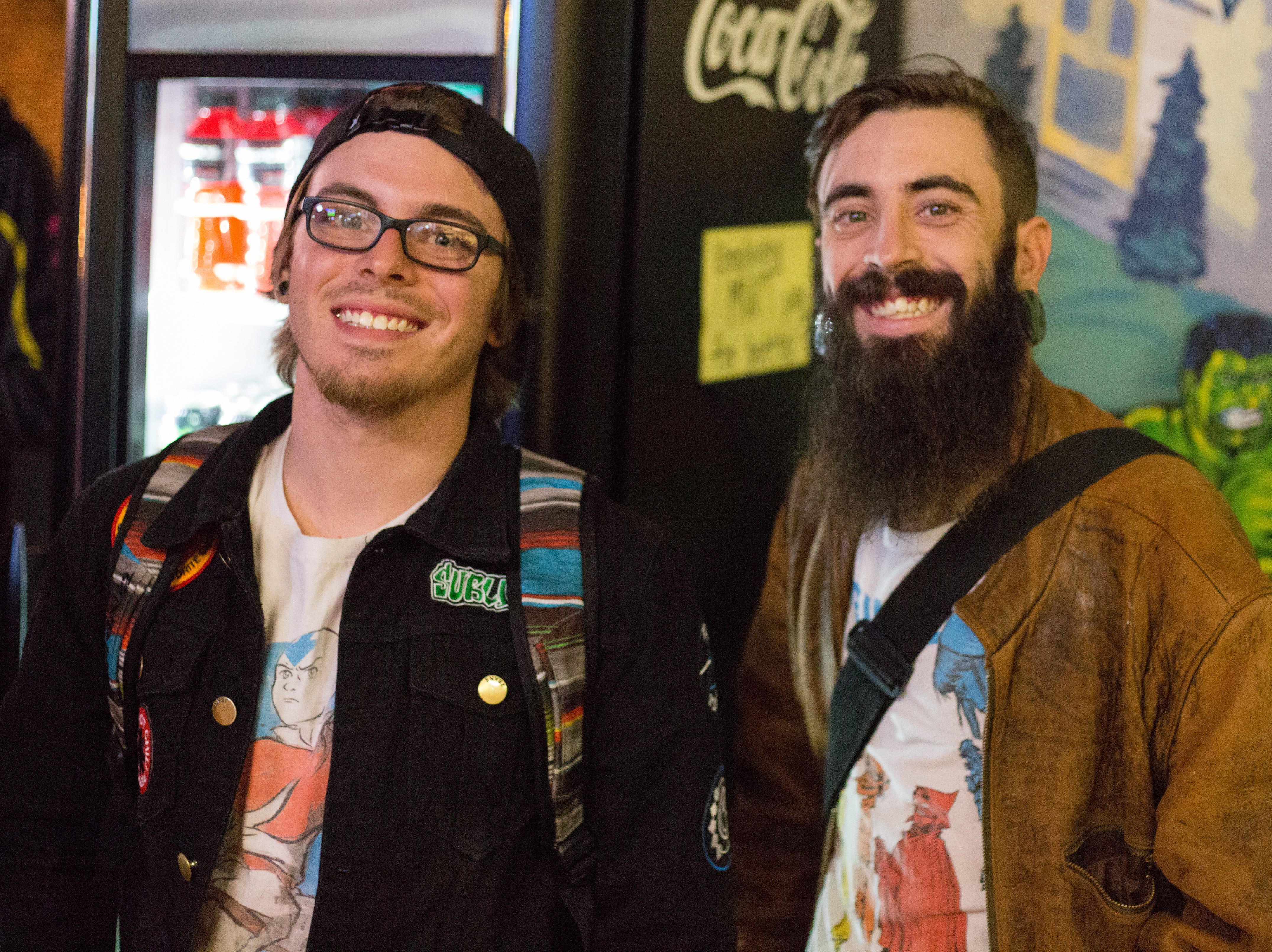 Austin Thornburg and Taylor Tullis enjoy the Super Smash Brothers Ultimate Tournament presented by Big Dad Games at Filly's Game and Grill in Gallatin on Monday, Jan 14.