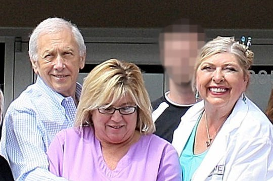 From left, Dr. Carl Lindblad, nurse practitioner Candace Craven and Dr. Susan Vergot have pleaded guilty to defrauding the military out of $65 million as part of a pain cream kickback scheme. This photo has been edited to protect the identity of an uninvolved person.