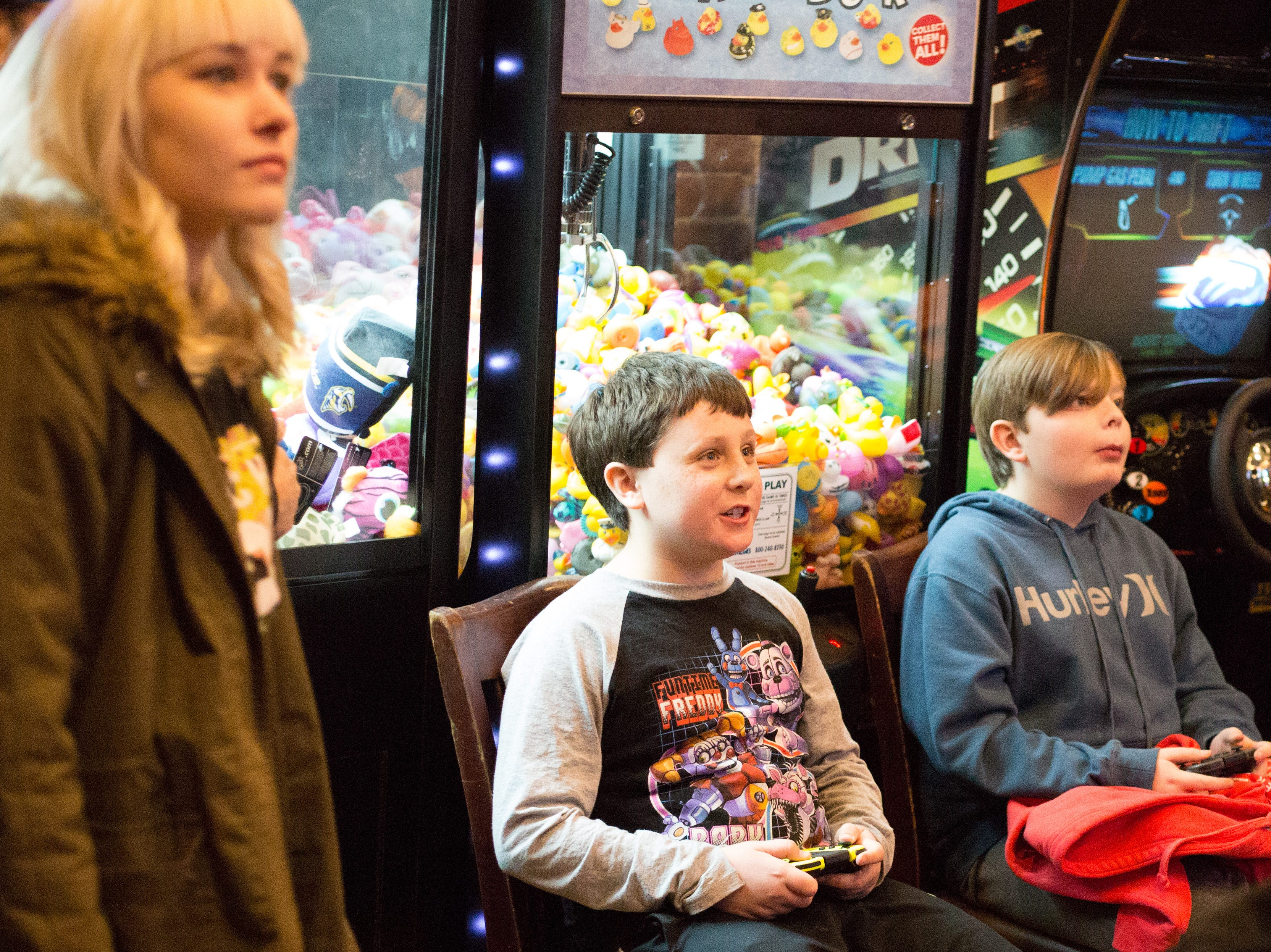 Competitors have fun during a Super Smash Brothers Ultimate Tournament presented by Big Dad Games at Filly's Game and Grill in Gallatin on Monday, Jan 14.