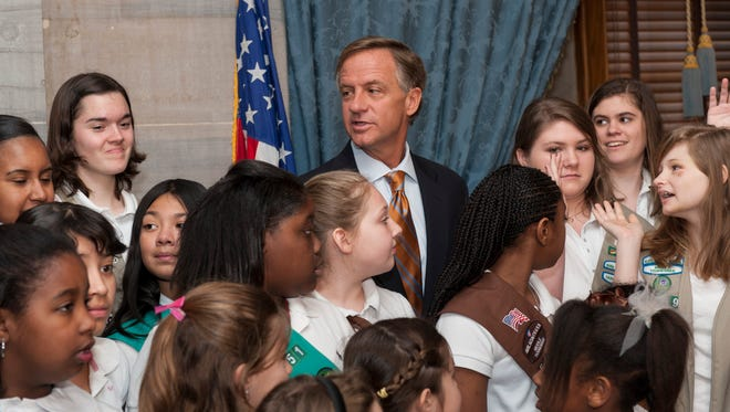 Governor Bill Haslam celebrates the 100th Birthday of the Girl Scouts March, 2012