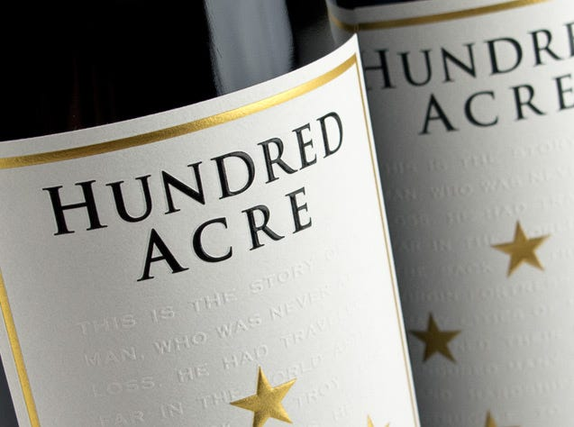 Online auction lots up for bid from Jan. 20-31 include six bottles of 2008 Hundred Acre Cabernet Sauvignon.