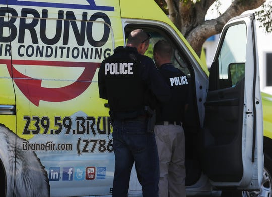 A large contingent of law enforcement officials from the Lee County Sheriff's Office and Cape Coral Police Department congregated at Bruno Total Home Performance on Tuesday morning. Boxes filled with paper bags were seen being removed. An officer on the scene said it was a state investigation but would no elaborate.