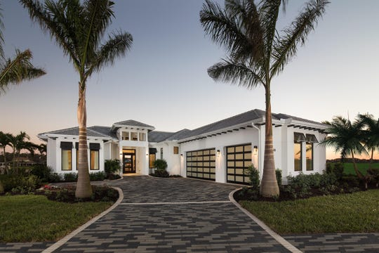 The Burano model front elevation; the floor plan the first residents selected for their new home.