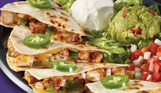 Fajita quesadillas are available at Tijuana Flats locations through March 10.