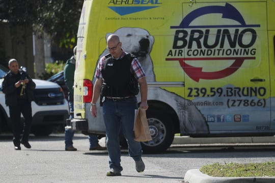 Officers from the Lee County Sheriff's Office and the Cape Coral Police Department were at Bruno Total Home in Bonita Springs on Jan. 15, 2019. An officer said it was a state investigation but would not elaborate.