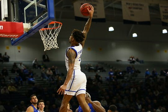 Former Florida SouthWestern State forward Tremell Murphy is having a slam-dunk season as a starting junior forward for recharged Drake.