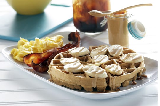 The Power Waffle is a limited-time seasonal selection at Another Broken Egg Cafe in Naples.
