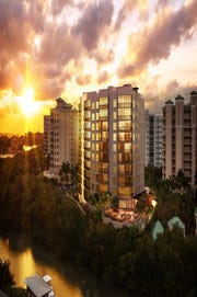 London Bay Homes' Grandview at Bay Beach high-rise on Estero Island .
