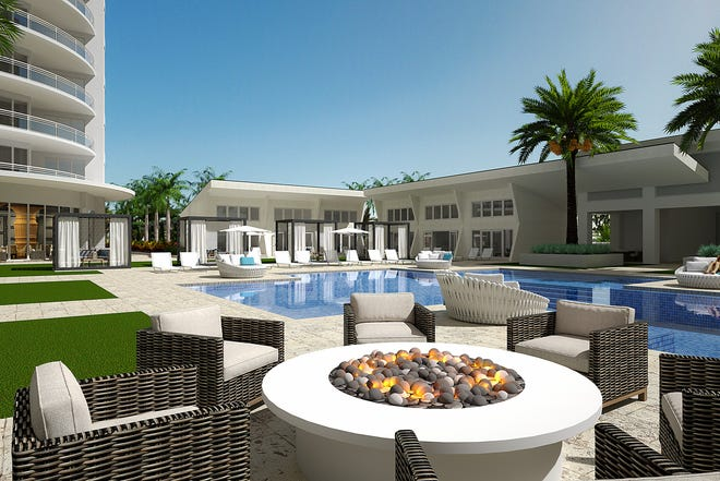 Five private cottages and six private poolside cabanas are available for purchase at Omega.