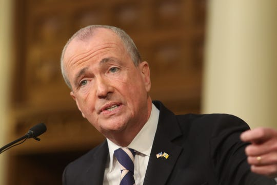 New Jersey Gov. Phil Murphy gives his first State of the State address in Trenton on Tuesday, Jan. 15, 2019.