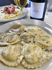 Ravioli di Magro al Tartufo, offered at Palazzone 1960 in Wayne, is a ravioli with ricotta, butter, black truffle, and parmigiano cheese. $15.