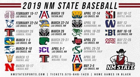 2019 NM State baseball schedule