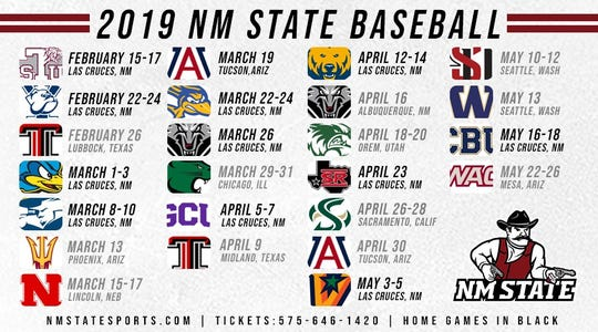 2019 NM State baseball schedule