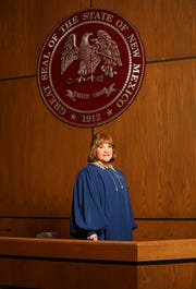 Third Judicial District Court Judge Grace Duran is shown Friday, Jan. 11, 2019 during an investiture ceremony after being elected to the position in November 2018.
