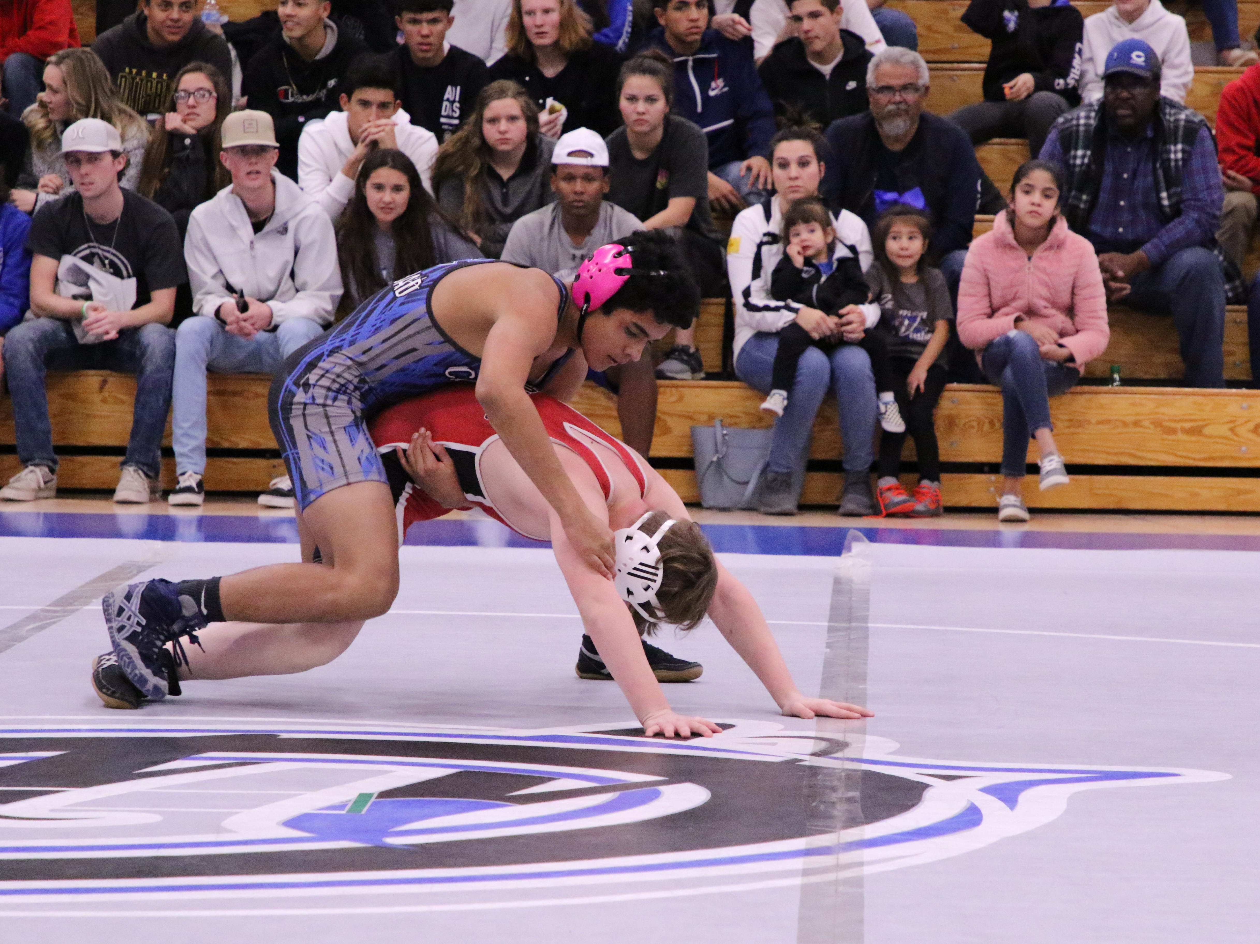 Photo highlights of the Carlsbad junior varsity wrestling dual against Roswell on Jan. 14, 2019.