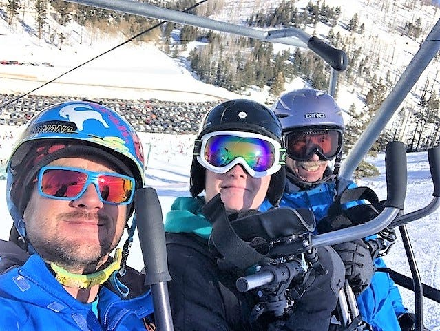 Clients are happy to have the chance to ski on the mountain.
