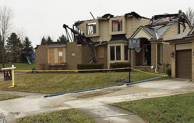 A fire on Shefield Court in Plymouth Township on Jan. 1, 2019, destroyed this home.