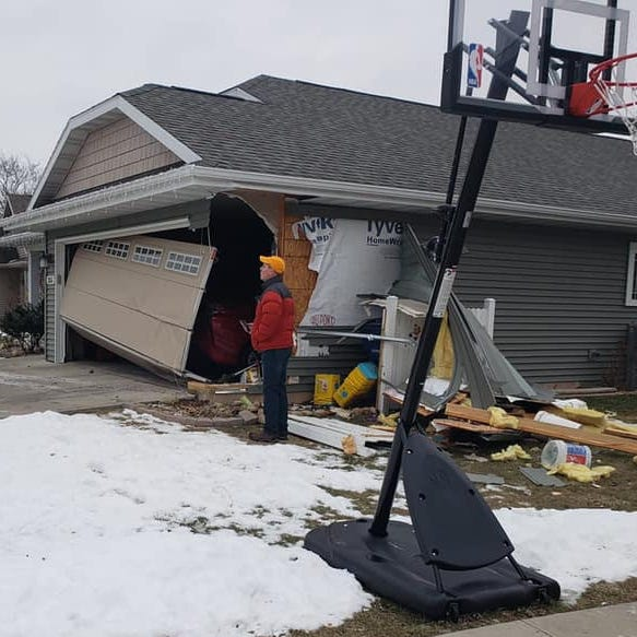 Police seek fifth-offense drunken driving charge against man after crash into two homes