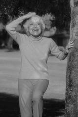 Carol Channing at her home in Rancho Mirage, Calif., 2003