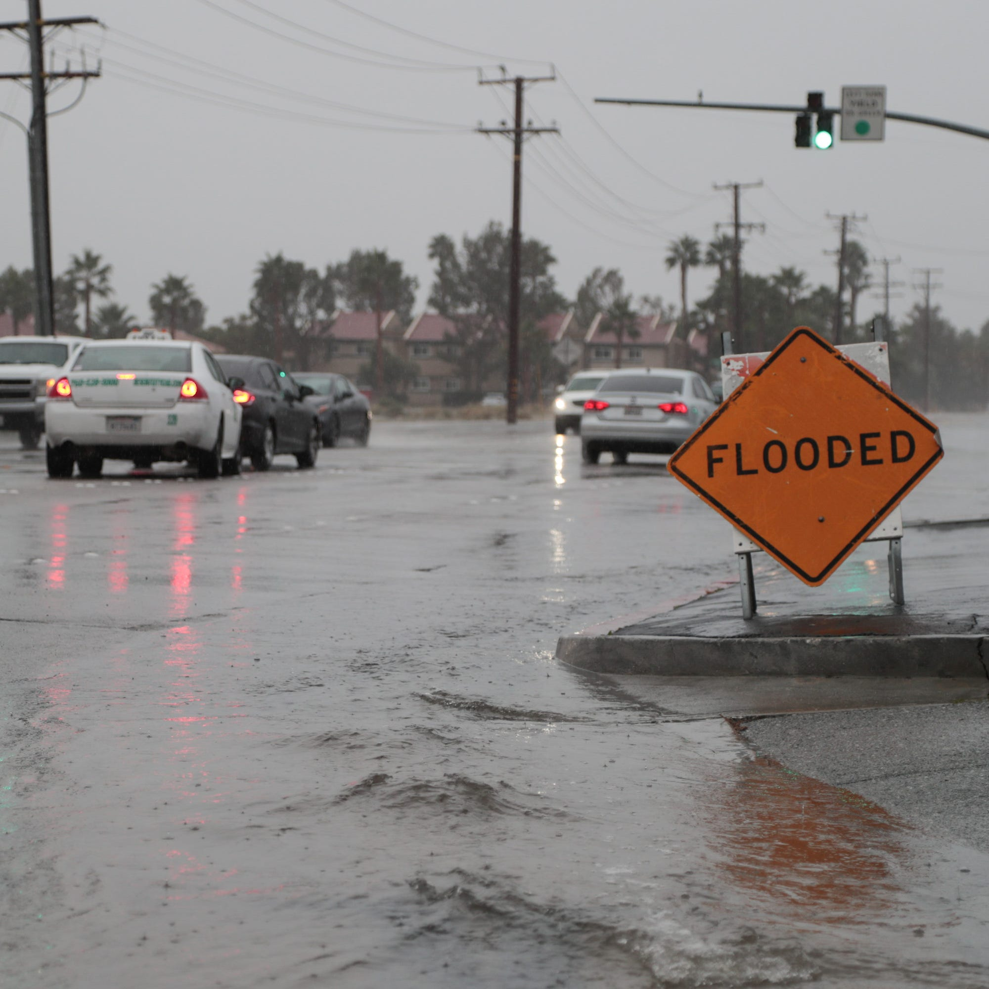 Riverside County under flash flood warning as rain falls on Coachella Valley