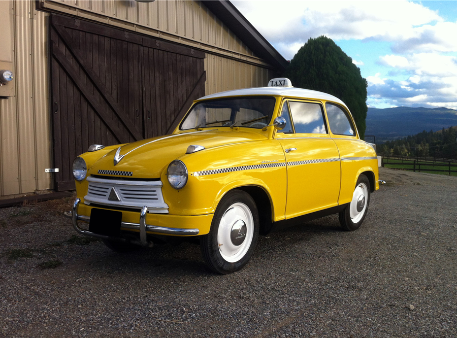 This 1958 Lloyd Alexander Taxi will be auctioned off at Barrett-Jackson in Scottsdale on Wednesday.