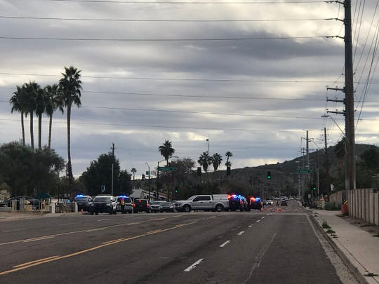 Tempe police were at the scene of a shooting involving an officer on Jan. 15, 2019.
