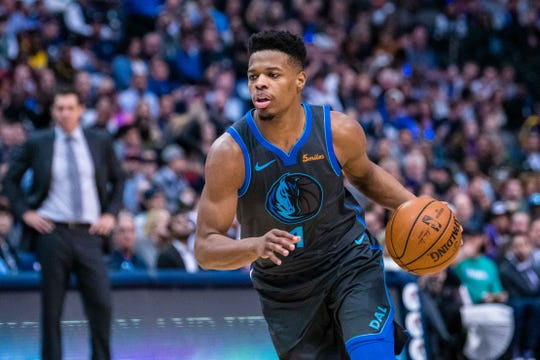 Dennis Smith Jr. moves with the ball during a game against the Lakers on Jan. 7 at American Airlines Center.