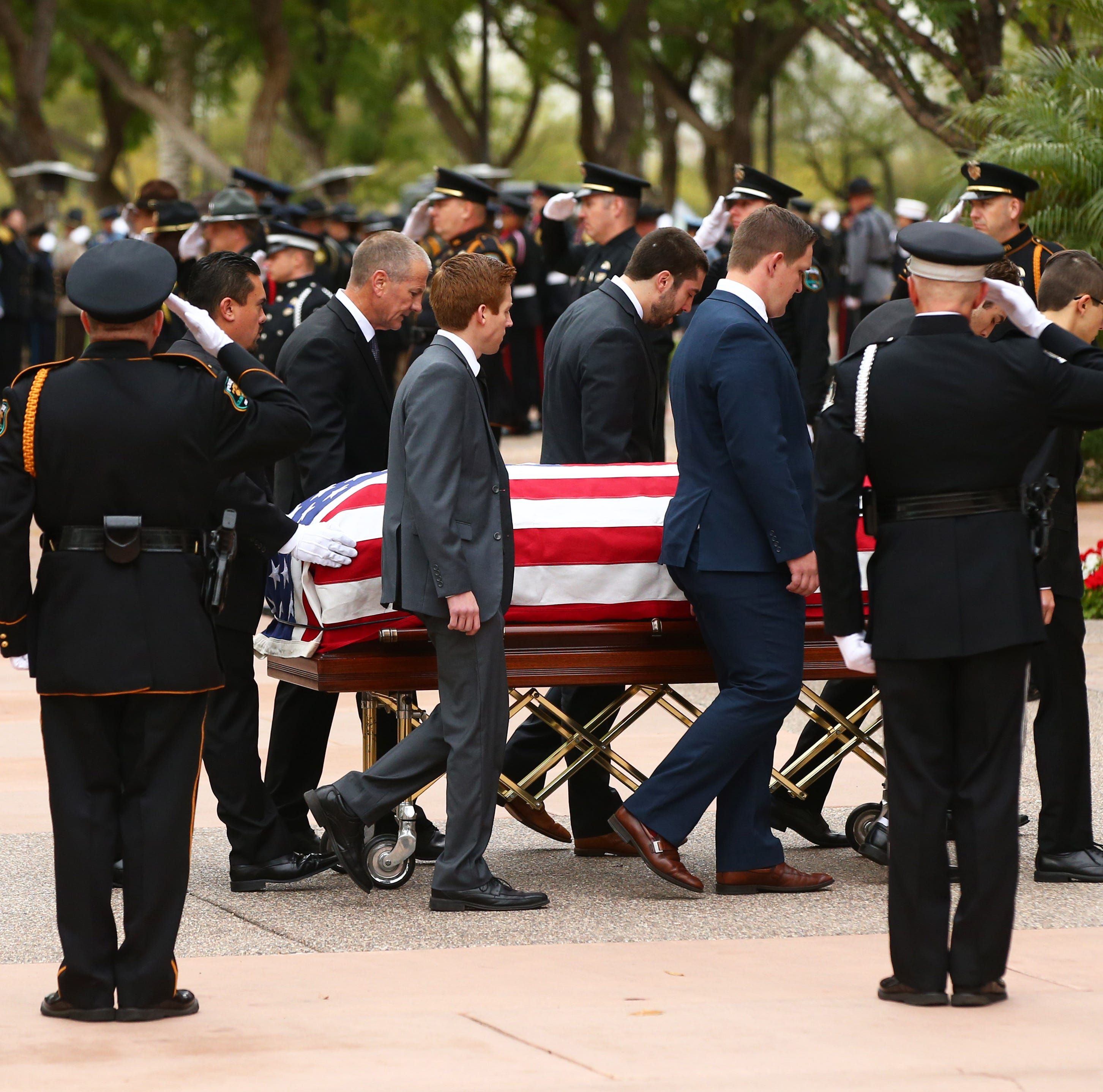 Family and friends mourn fallen Salt River tribal Officer Clayton Townsend at funeral