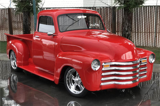 This 1950 Chevrolet 3100 Custom Pickup will be auctioned off at Barrett-Jackson in Scottsdale on Wednesday.