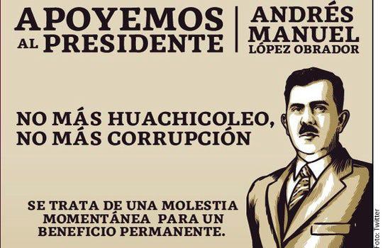 Cartel promovido a través de redes sociales por partidiaros de AMLO.