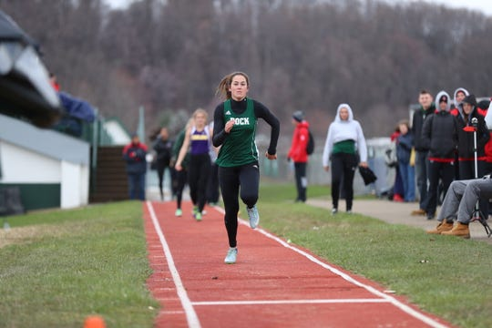 Annville-Cleona grad Reagan Hess is a standout in the long jump and the sprints at Slippery Rock.