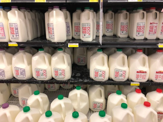 Clover Farms milk at Dutchway Dairies. The company asked farmers to dump two days worth of milk this week.