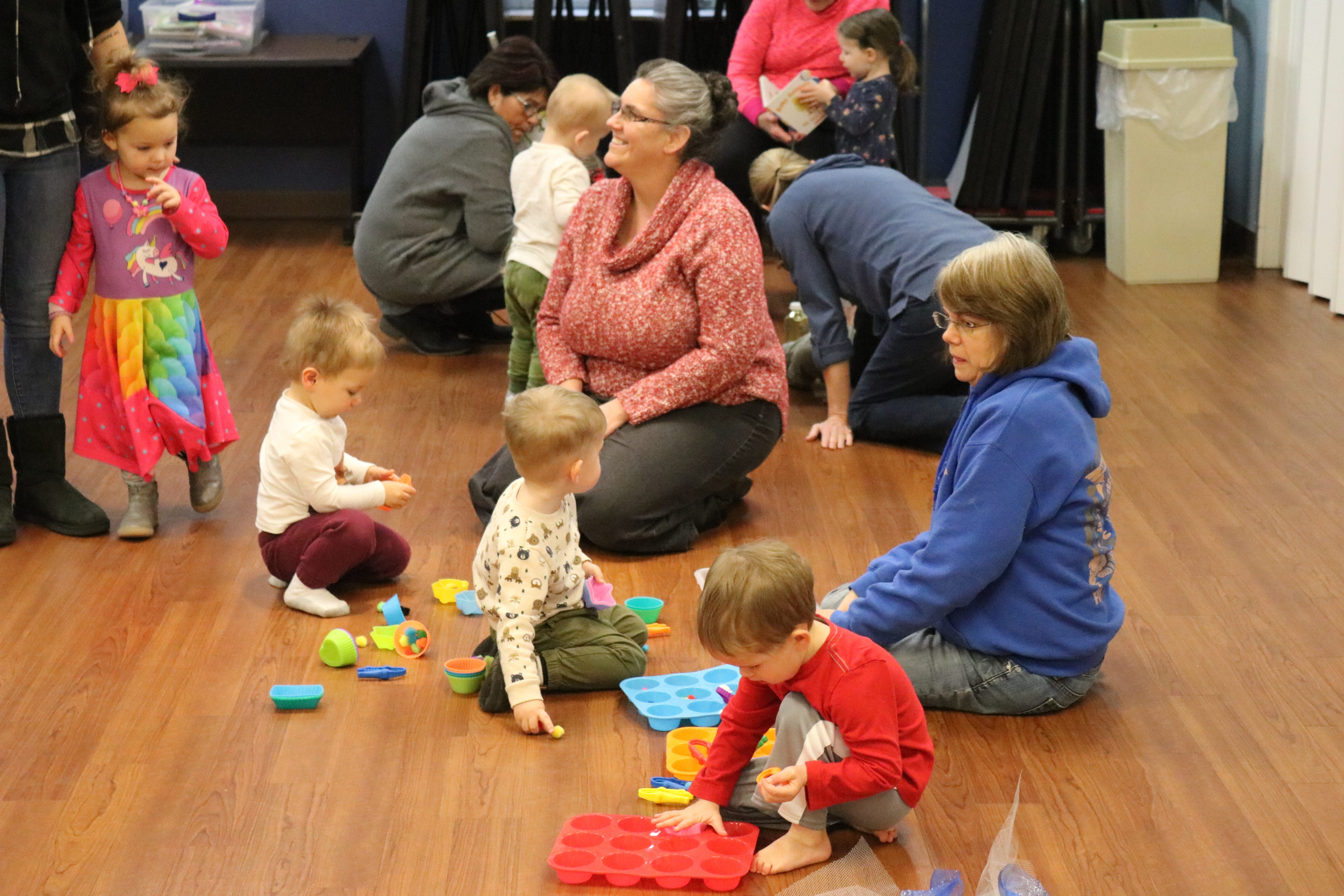 "A group of children play during the ""Sensory Story Time"" program at Ida Rupp Public Library in Port Clinton on Tuesday."
