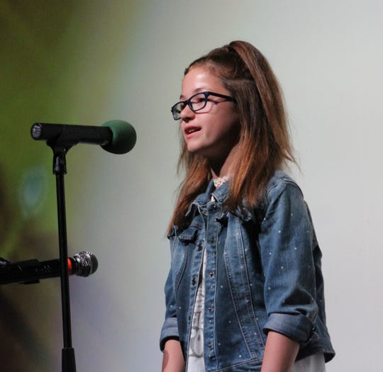 Alexus Lawson, 12, was the winner of the 2018 A Cappella & Unplugged contest.