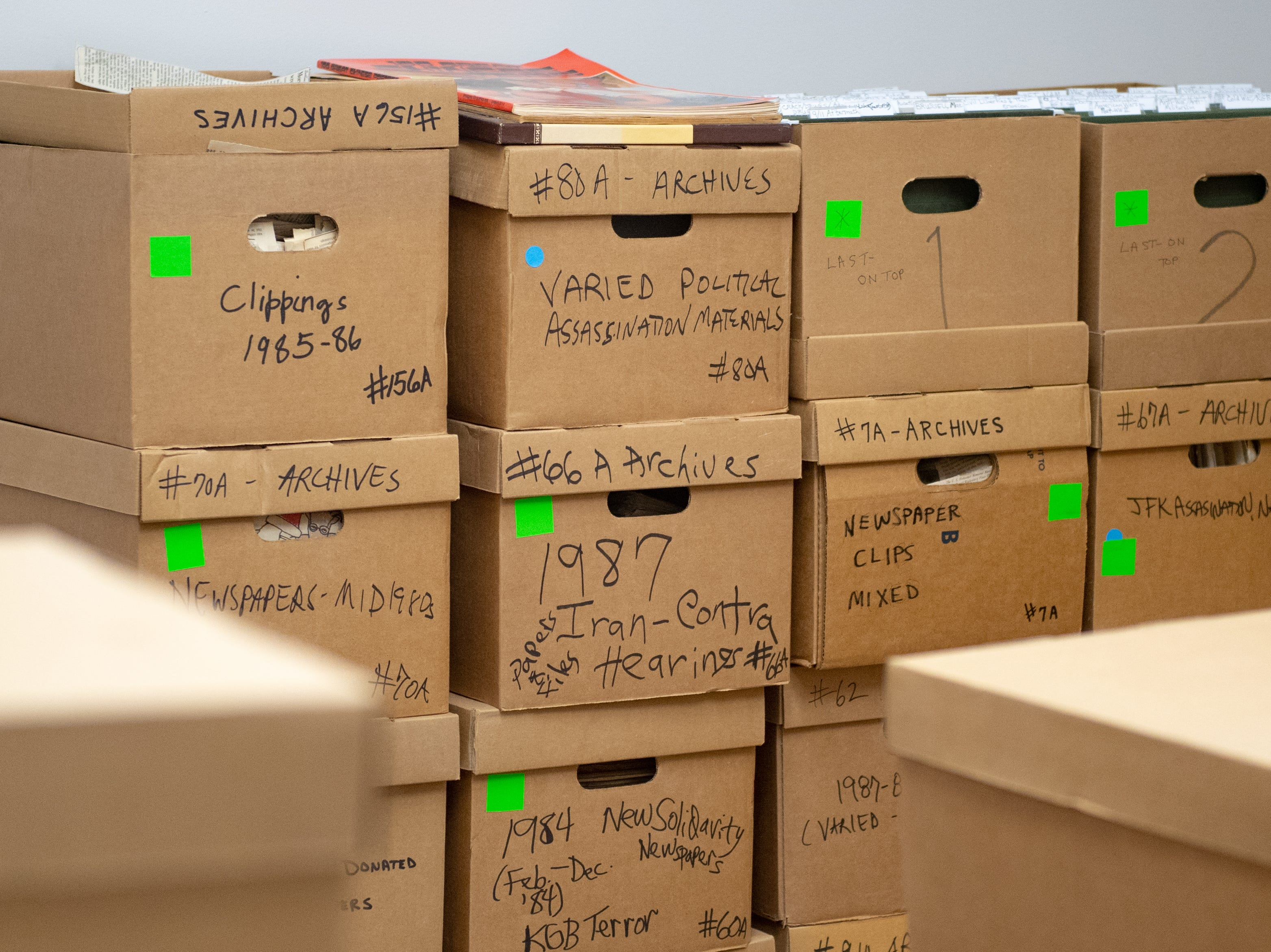Initially after Judge's death, Tenenoff moved all of the materials to a storage unit in northern Virginia. She later decided to move everything to York, so it would be closer to where she lived.