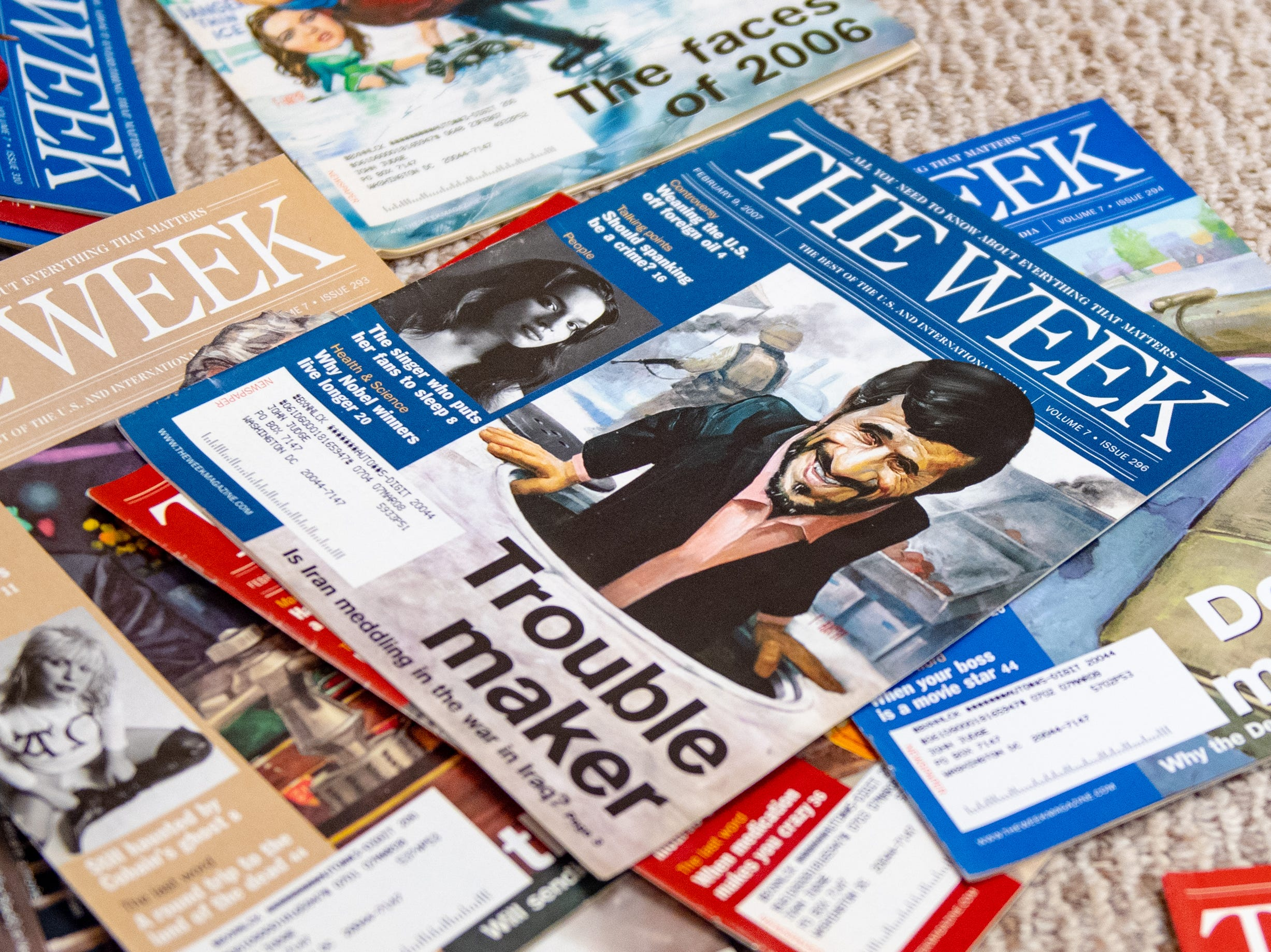 Certain magazines are grouped together making it easier to locate specific articles at the national Hidden History Museum and Research Center, January 12, 2019.