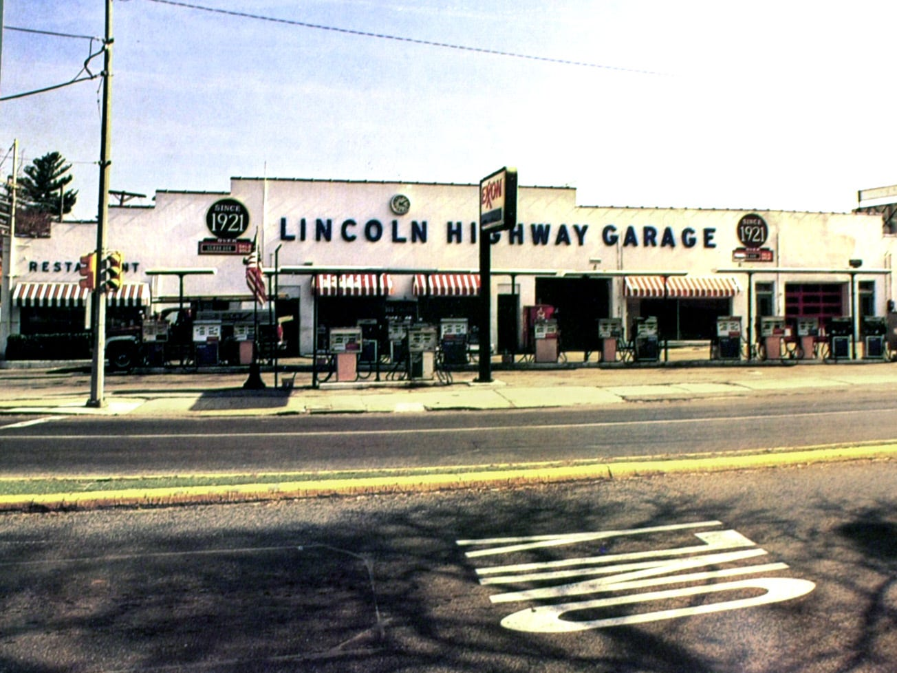 The Lincoln Highway Garage in 1991.