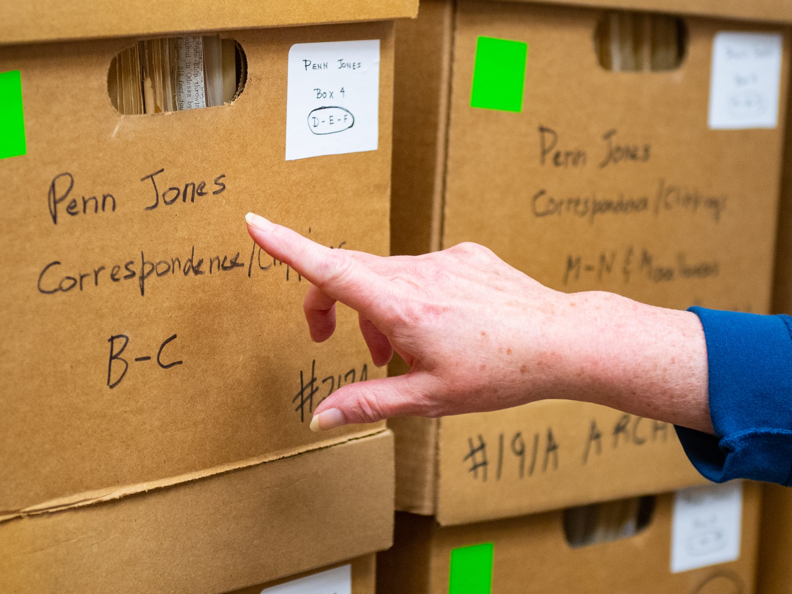The Hidden History Museum and Research Center has a series of boxes dedicated to journalists like Penn Jones, January 12, 2019.