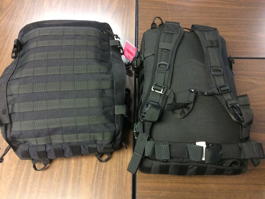 Mass casualty critical intervention kits purchased by Wayne County Emergency Management Agency are the size of a backpack and have backpack straps.