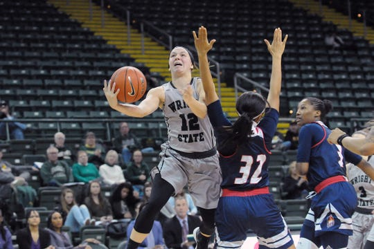 Richmond graduate Mackenzie Taylor (12) is a senior on the Wright State University women's basketball team.