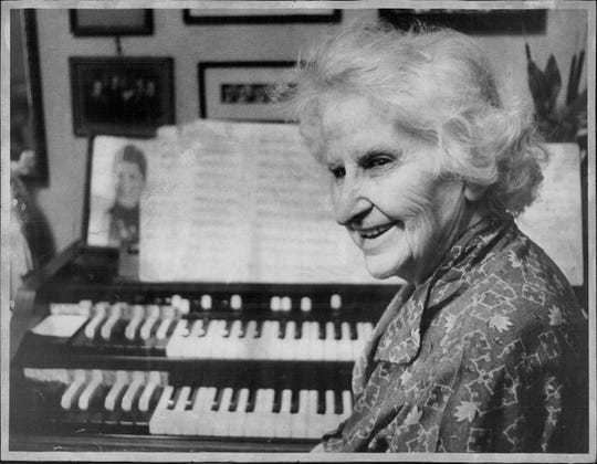 In later life, Abigail Roberson played piano in silent movie theaters and later played organ in churches.