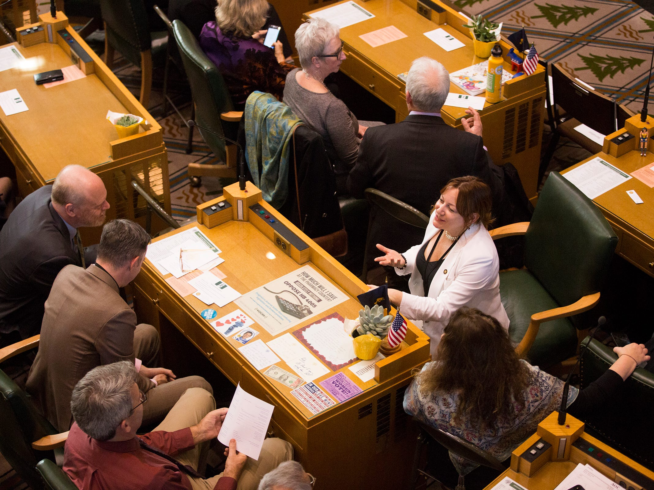Oregon's Legislative Assembly gathers for Governor Kate Brown's inaugural address at the Oregon State Capitol on Jan. 14, 2019.