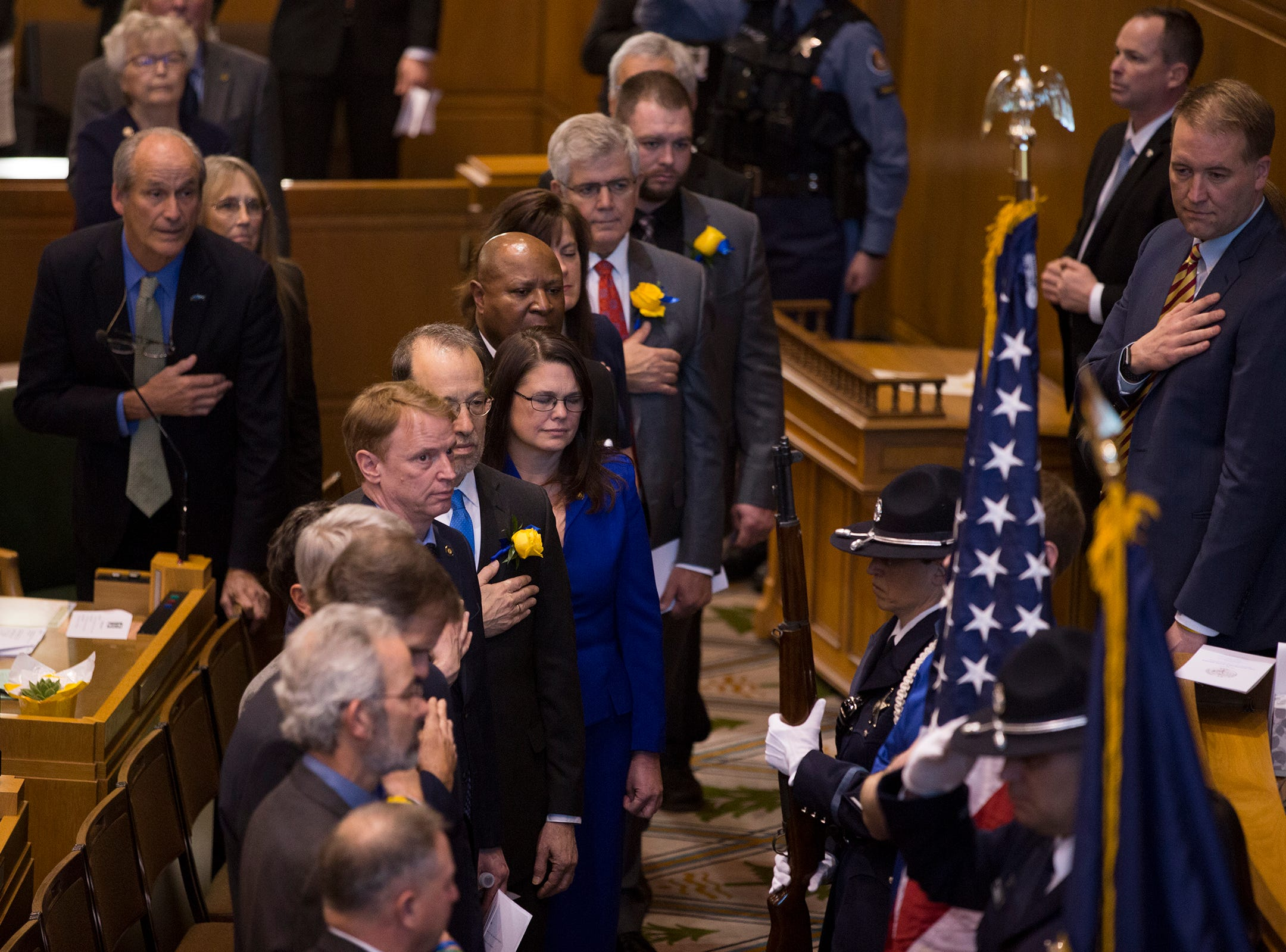 Oregon State Senators at Governor Kate Brown's inaugural address at the Oregon State Capitol on Jan. 14, 2019.