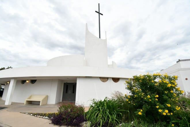 Bright flowers bloom near the entrance to St. Paul Presbyterian Church, 11 N. Park St. in San Angelo.