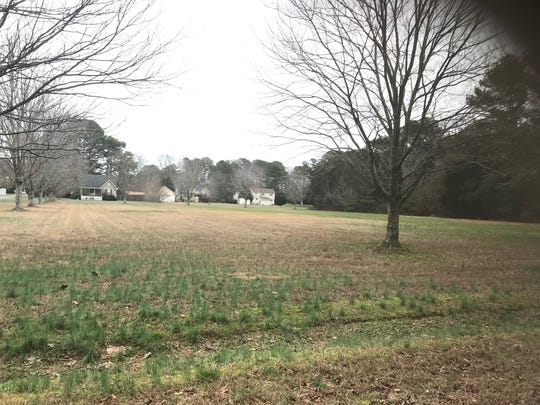 A member of the McMath family has offered to donate this land in Onley, Virginia for a park to be named in honor of former state delegate, newspaperman and philanthropist George N. McMath.