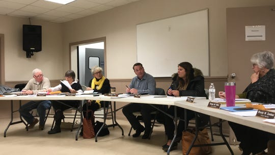 The Onley Town Council discusses an item during its meeting on Monday, Jan. 14, 2019 in Onley, Virginia.